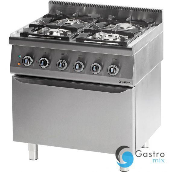 Kuchnia Gazowa 4 Palnikowa Wym 800x700x850 Z Piekarnikiem Elektrycznym 247 Kw Statyczny G3031 Propan Butan Stalgast 9
